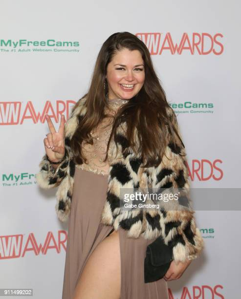 Adult film actress Allie Haze attends the 2018 Adult Video News Awards at the Hard Rock Hotel Casino on January 27 2018 in Las Vegas Nevada