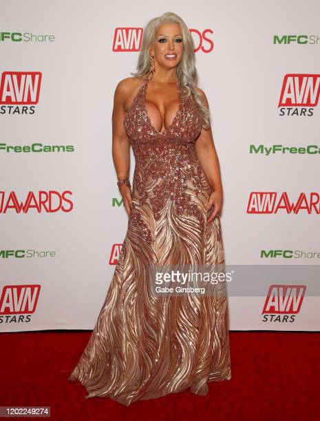 Adult film actress Alura Jenson attends the 2020 Adult Video News Awards at The Joint inside the Hard Rock Hotel & Casino on January 25, 2020 in Las...