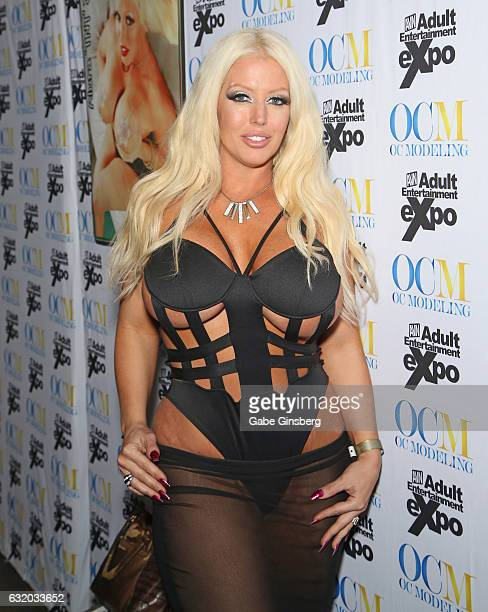 Adult film actress Alura 'TNT' Jenson attends the 2017 AVN Adult Entertainment Expo at the Hard Rock Hotel Casino on January 18 2017 in Las Vegas...