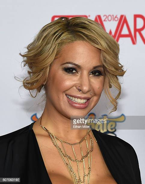 Adult film actress Alyssa Lynn attends the 2016 Adult Video News Awards at the Hard Rock Hotel Casino on January 23 2016 in Las Vegas Nevada