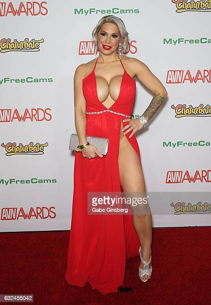 Adult film actress Alyssa Lynn attends the 2017 Adult Video News Awards at the Hard Rock Hotel Casino on January 21 2017 in Las Vegas Nevada