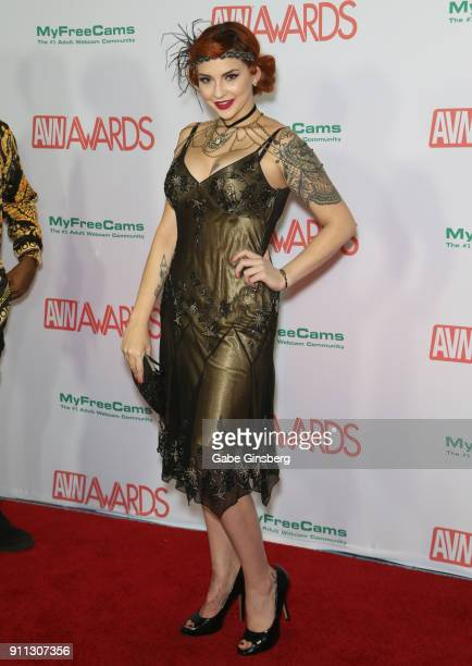 Adult film actress Amber Ivy attends the 2018 Adult Video News Awards at the Hard Rock Hotel Casino on January 27 2018 in Las Vegas Nevada