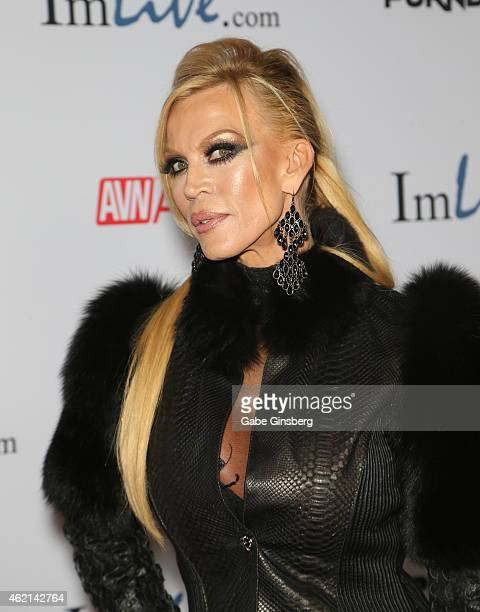 Adult film actress Amber Lynn arrives at the 2015 Adult Video News Awards at the Hard Rock Hotel Casino on January 24 2015 in Las Vegas Nevada