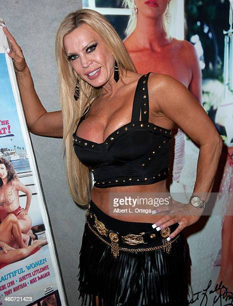 Adult film actress Amber Lynn attends The Hollywood Show at Lowes Hollywood Hotel on January 4 2014 in Hollywood California