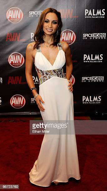 Adult film actress Amber Rayne arrives at the 27th annual Adult Video News Awards Show at the Palms Casino Resort January 9 2010 in Las Vegas Nevada