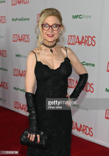 Adult film actress and author Nina Hartley attends the 2019 Adult Video News Awards at The Joint inside the Hard Rock Hotel Casino on January 26 2019...