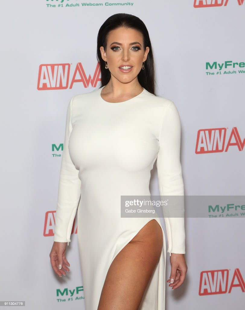 Adult film actress and co-host Angela White attends the 2018 Adult Video News Awards at the Hard Rock Hotel & Casino on January 27, 2018 in Las Vegas, Nevada.