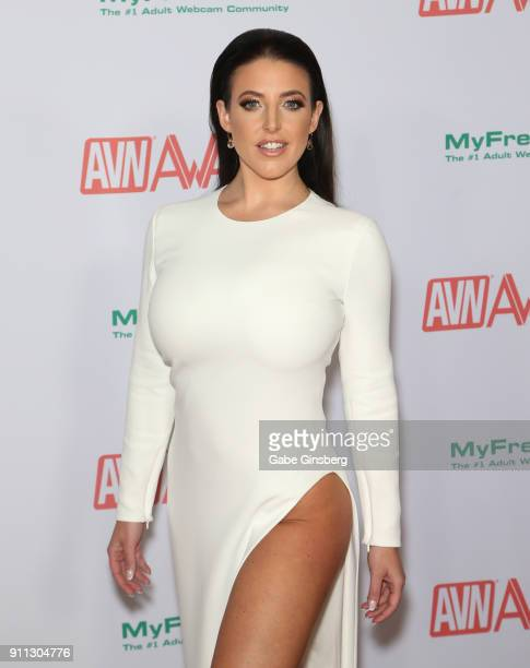 Adult film actress and co-host Angela White attends the 2018 Adult Video News Awards at the Hard Rock Hotel & Casino on January 27, 2018 in Las...