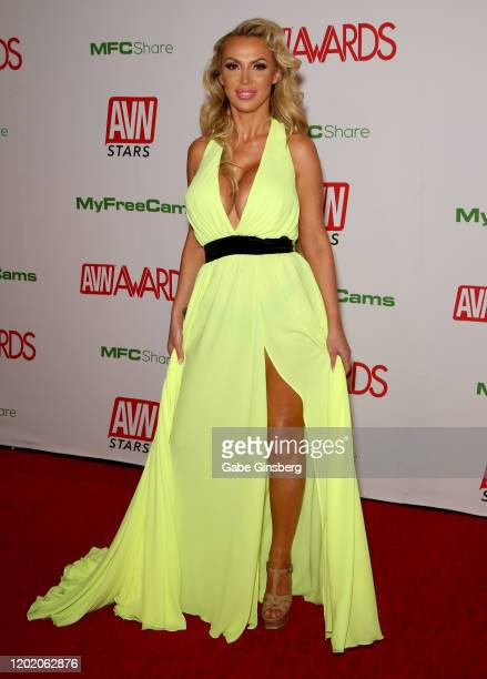 Adult film actress and co-host Nikki Benz attends the 2020 Adult Video News Awards at The Joint inside the Hard Rock Hotel & Casino on January 25,...
