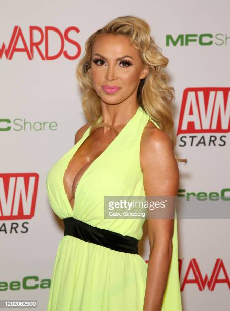 Adult film actress and cohost Nikki Benz attends the 2020 Adult Video News Awards at The Joint inside the Hard Rock Hotel Casino on January 25 2020...