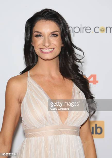 Adult film actress and comedian Silvia Saige attends the 2018 GayVN Awards show at The Joint inside the Hard Rock Hotel Casino on January 21 2018 in...