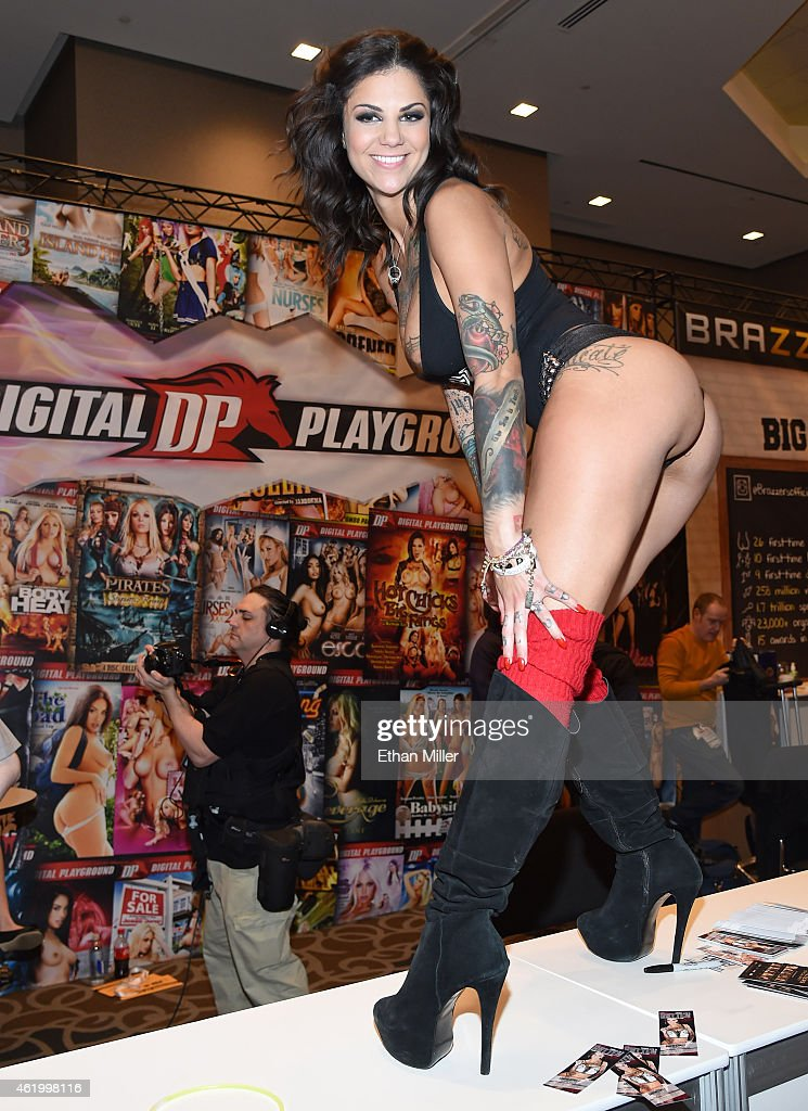Adult film actress and model Bonnie Rotten poses at the Digital Playground booth at the 2015 AVN Adult Entertainment Expo at the Hard Rock Hotel & Casino on January 22, 2015 in Las Vegas, Nevada.
