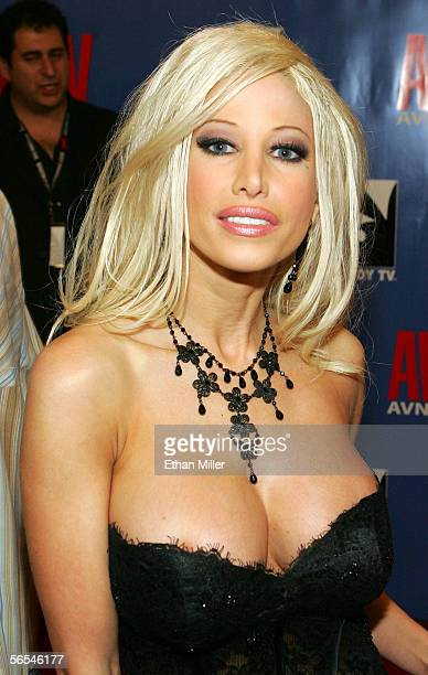 Adult film actress and producer Gina Lynn arrives at the Adult Video News Awards Show at the Venetian Resort Hotel and Casino January 7 2006 in Las...
