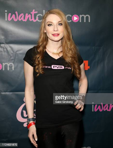 Adult film actress and PVR Chief Marketing Officer Ela Darling poses in the AVN Cupcake Suite at the 2019 AVN Adult Entertainment Expo at the Hard...
