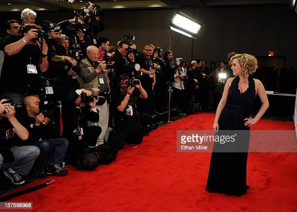 Adult film actress and show host Bree Olson arrives at the 29th annual Adult Video News Awards Show at the Hard Rock Hotel Casino January 21 2012 in...