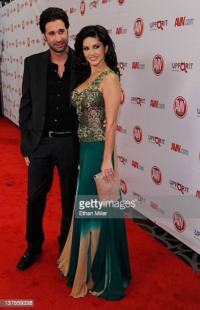 Adult film actress and show host Sunny Leone and her husband Daniel Weber arrive at the 29th annual Adult Video News Awards Show at the Hard Rock...