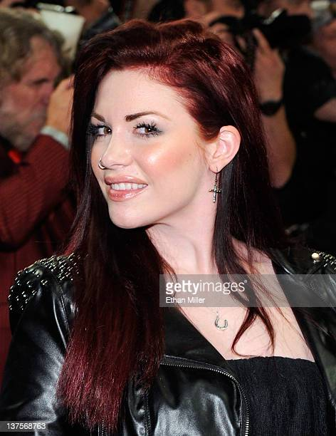 Adult film actress Andy San Dimas arrives at the 29th annual Adult Video News Awards Show at the Hard Rock Hotel Casino January 21 2012 in Las Vegas...