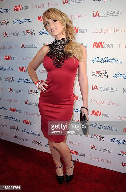 Adult film actress Angela Sommers arrives for The 1st Annual Sex Awards 2013 held at Avalon on October 9 2013 in Hollywood California