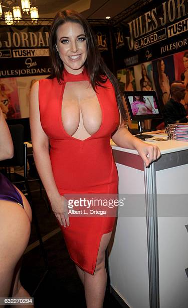Adult film actress Angela White attends the 2017 AVN Adult Entertainment Expo at the Hard Rock Hotel Casino on January 20 2017 in Las Vegas Nevada
