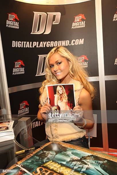 Adult film actress Angelina Armani attends the 2009 AVN Adult Entertainment Expo at the Sands Expo Convention Center on January 9 2009 in Las Vegas...