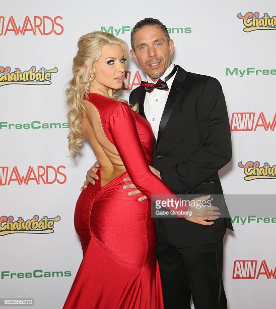 Adult film actress Anikka Albrite and her husband adult film actor/director Mick Blue attend the 2017 Adult Video News Awards at the Hard Rock Hotel...