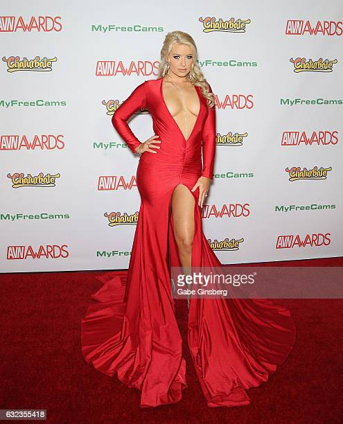 Adult film actress Anikka Albrite attends the 2017 Adult Video News Awards at the Hard Rock Hotel Casino on January 21 2017 in Las Vegas Nevada