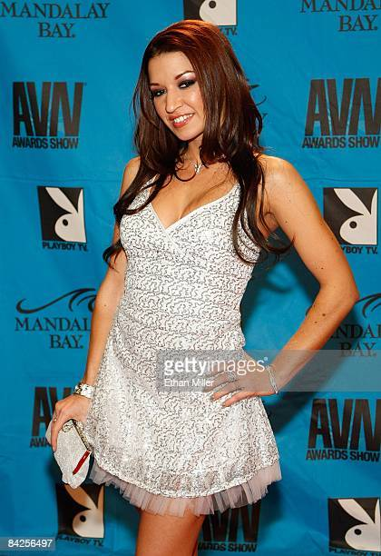 Adult film actress Ann Marie Rios arrives at the 26th annual Adult Video News Awards Show at the Mandalay Bay Events Center January 10 2009 in Las...
