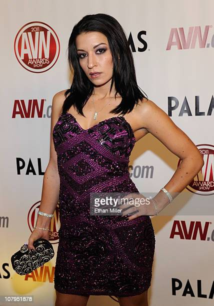 Adult film actress Ann Marie Rios arrives at the 28th annual Adult Video News Awards Show at the Palms Casino Resort January 8 2011 in Las Vegas...