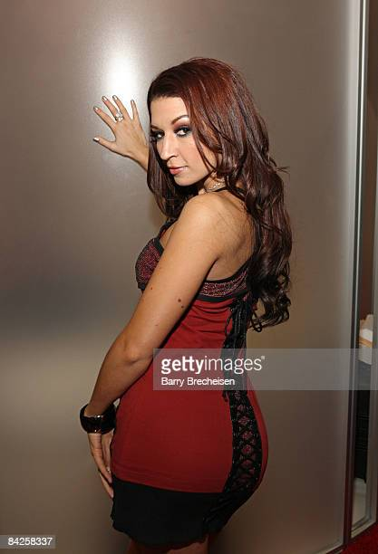 Adult film actress Ann Marie Rios attends the 2009 AVN Adult Entertainment Expo at the Sands Expo Convention Center on January 9 2009 in Las Vegas...