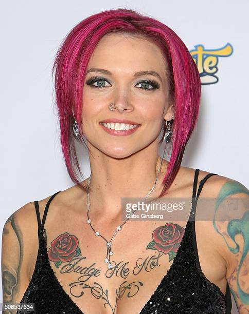 Adult film actress Anna Bell Peaks attends the 2016 Adult Video News Awards at the Hard Rock Hotel Casino on January 23 2016 in Las Vegas Nevada