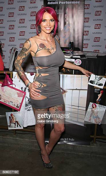 Adult film actress Anna Bell Peaks attends the 2016 AVN Adult Entertainment Expo at the Hard Rock Hotel Casino on January 20 2016 in Las Vegas United...