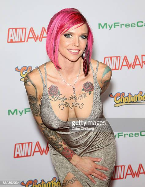 Adult film actress Anna Bell Peaks attends the 2017 Adult Video News Awards at the Hard Rock Hotel Casino on January 21 2017 in Las Vegas Nevada