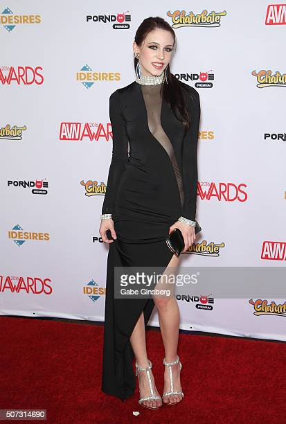Adult film actress Anna de Ville attends the 2016 Adult Video News Awards at the Hard Rock Hotel Casino on January 23 2016 in Las Vegas Nevada