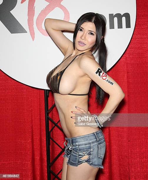 Adult film actress Anri Okita attends the 2015 AVN Adult Entertainment Expo at the Hard Rock Hotel Casino on January 22 2015 in Las Vegas Nevada