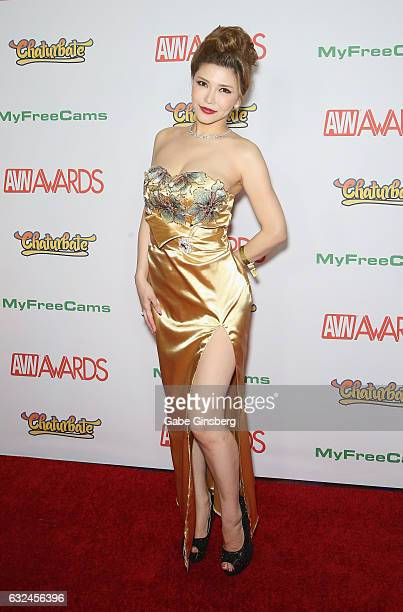 Adult film actress Anri Okita attends the 2017 Adult Video News Awards at the Hard Rock Hotel Casino on January 21 2017 in Las Vegas Nevada