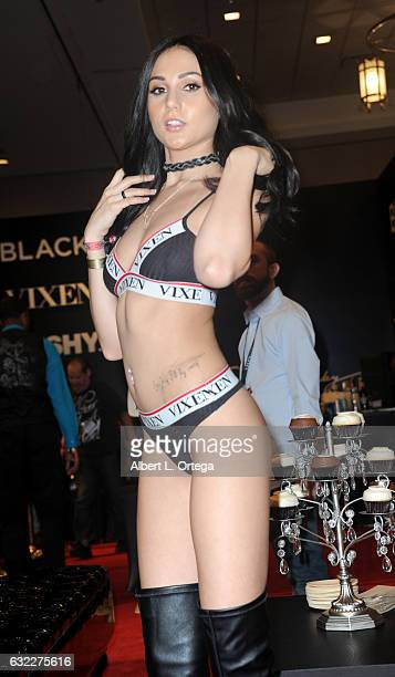Adult film actress Ariana Marie attends the 2017 AVN Adult Entertainment Expo at the Hard Rock Hotel Casino on January 20 2017 in Las Vegas Nevada