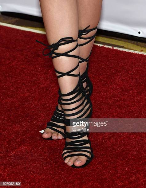 Adult film actress Ariana Marie shoes detail attends the 2016 Adult Video News Awards at the Hard Rock Hotel Casino on January 23 2016 in Las Vegas...