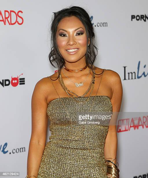 Adult film actress Asa Akira arrives at the 2015 Adult Video News Awards at the Hard Rock Hotel Casino on January 24 2015 in Las Vegas Nevada