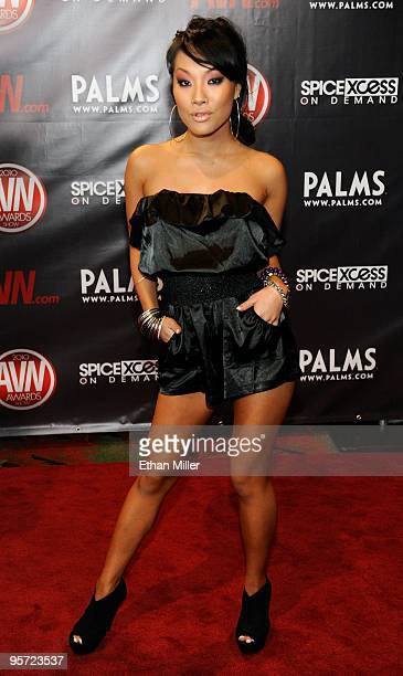 Adult film actress Asa Akira arrives at the 27th annual Adult Video News Awards Show at the Palms Casino Resort January 9, 2010 in Las Vegas, Nevada.