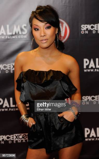 Adult film actress Asa Akira arrives at the 27th annual Adult Video News Awards Show at the Palms Casino Resort January 9 2010 in Las Vegas Nevada