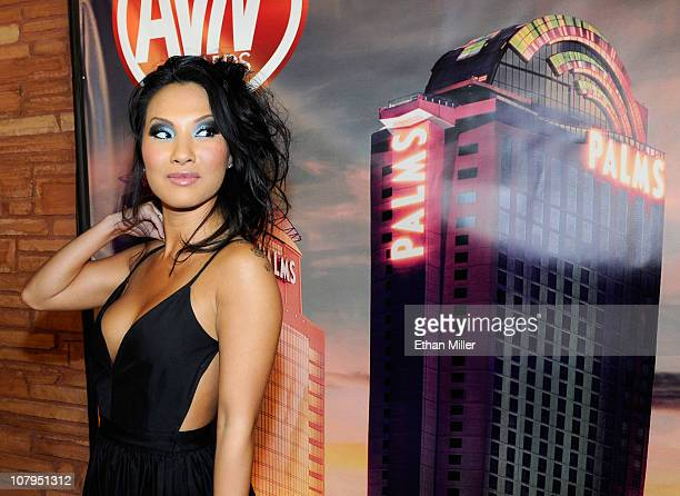 Adult film actress Asa Akira arrives at the 28th annual Adult Video News Awards Show at the Palms Casino Resort January 8 2011 in Las Vegas Nevada