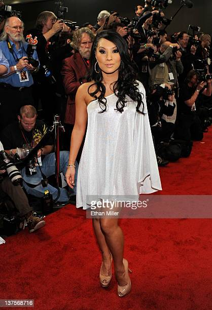 Adult film actress Asa Akira arrives at the 29th annual Adult Video News Awards Show at the Hard Rock Hotel Casino January 21 2012 in Las Vegas Nevada