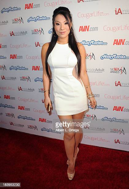 Adult film actress Asa Akira arrives for The 1st Annual Sex Awards 2013 held at Avalon on October 9, 2013 in Hollywood, California.