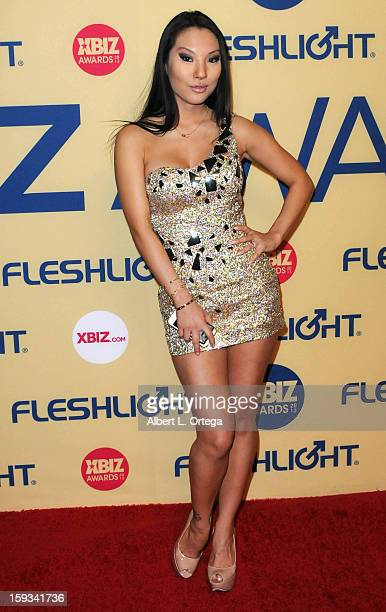 Adult Film actress Asa Akira arrives for the 2013 XBIZ Awards held at the Hyatt Regency Century Plaza on January 11 2013 in Century City California