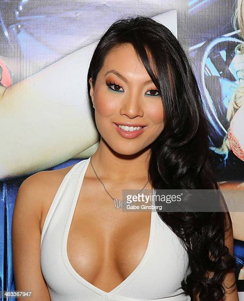 Adult film actress Asa Akira attends the 2014 AVN Adult Entertainment Expo at the Hard Rock Hotel Casino on January 17 2014 in Las Vegas Nevada