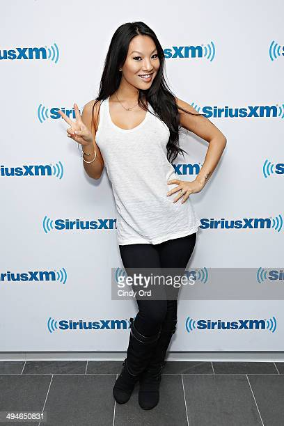 Adult film actress Asa Akira visits the SiriusXM Studios on May 30 2014 in New York City