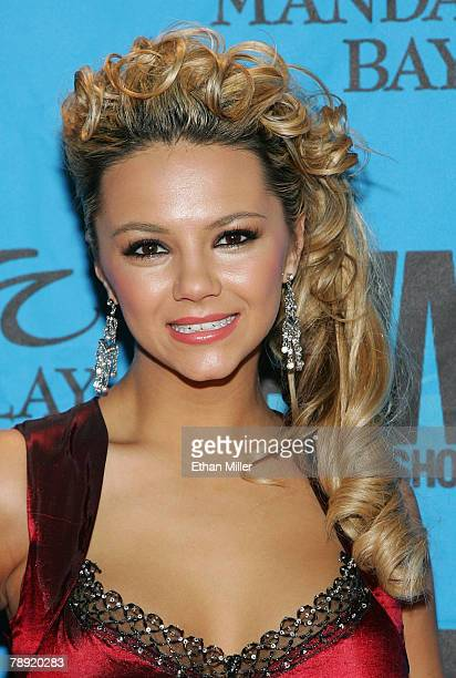 Adult film actress Ashlynn Brooke arrives at the 25th annual Adult Video News Awards Show at the Mandalay Bay Events Center January 12 2008 in Las...