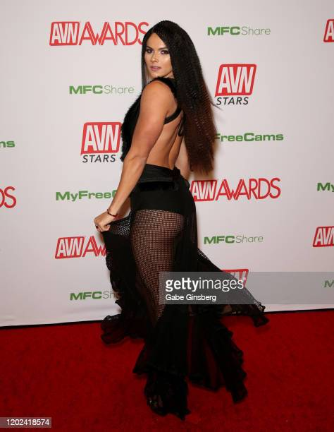 Adult film actress Aspen Rae attends the 2020 Adult Video News Awards at The Joint inside the Hard Rock Hotel Casino on January 25 2020 in Las Vegas...