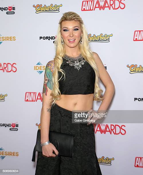 Adult film actress Aubrey Kate attends the 2016 Adult Video News Awards at the Hard Rock Hotel Casino on January 23 2016 in Las Vegas Nevada