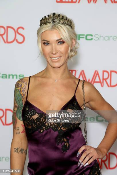 Adult film actress Aubrey Kate attends the 2019 Adult Video News Awards at The Joint inside the Hard Rock Hotel Casino on January 26 2019 in Las...